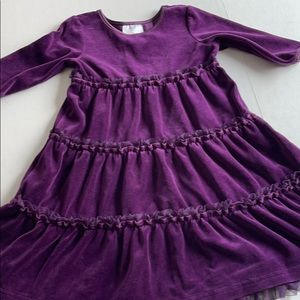 Hanna Andersson Purple Velvet twirl dress 100 4